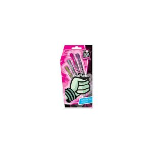 """Monster High 4 mini metalické gélové perá, výrobca Mikro. Skvelé perá s motívmi aj farbami obľúbených príšeriek: štyri """"monster"""" metalické farby: zlatá, strieborná, ružová a fialová s metalickým efektom."""