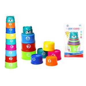 Farebné skladacie kelímky s číslami 9ks Výška poskladaných kelímkov v obale 14cm Nevhodné pre deti do 3 rokov.