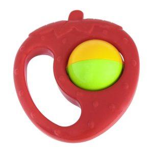 Hrkálka jahoda s guličkou Rozemry:11,5x10cm, Gulička:5cm Vhodné pre deti od 0 rokov.