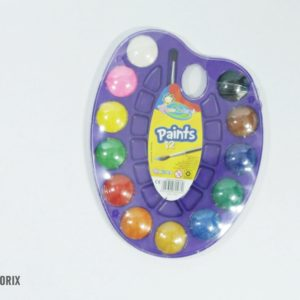 Vodové farby s trblietkami 12 farieb na maľovanie so štetcom Nevhodné pre deti do 3 rokov.