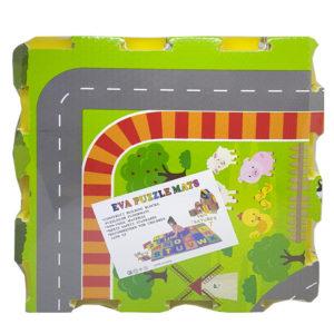 Penové puzzle Farma s rozmerom 31cm jednej kocky, v balení je 6 ks. Nevhodné pre deti do 3 rokov.