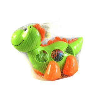 Dinosaurus vkladačka zelený je 26 cm veľký, hračka podporuje u detí rozvoj jemnej motoriky, rozpoznávanie tvarov a farieb Rozmery: 26x19cm Vhodné pre deti od 3 rokov.