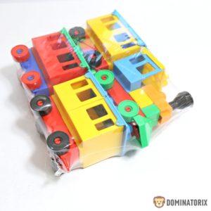 Vláčik skladačka s troma farebnými vozňami Rozmery: 19x25,5x6,4cm Vhodné pre deti od 3 rokov.