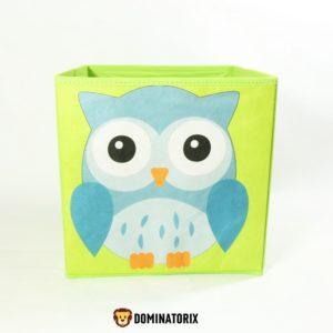 Rozkladací box na hračky Sova. Rozmery: 28x28x28cm Nevhodné pre deti do 3 rokov.