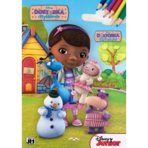 Maľovánka Disney Doktorka A4 Obsahuje 16 obrázkov na vymaľovanie podľa farebných predlôh. Nevhodné pre deti do 3 rokov.