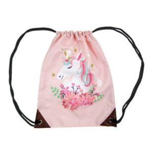 Batoh Jednorožec ružový. Materiál: 100% polyester. Rozmery: 42x34cm. Nevhodné pre deti do 3 rokov.
