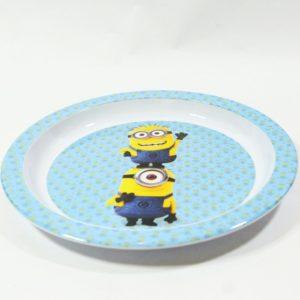 Detský tanier Mimoni ME o priemere 21,5cm. Je vhodný do mikrovlnej rúry po dobu ohrevu 2 minút. Hĺbka taniera je 1cm. Materiál-plast. Vhodné pre deti do 3 rokov.