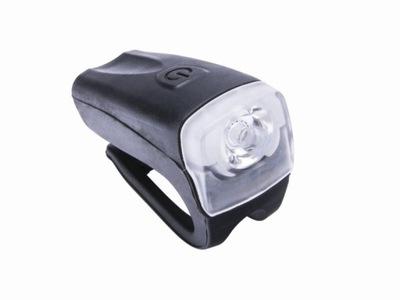 Predné LED svetlo na bicykel JY-378FC (Silicon Superslim). Obsahuje 1x vysoko svietivú bielu ledku 3Wattovú, a má vodeodolný povrch - IPX4. Svetlo má 3 funkcie: -Svieti-Bliká-Vypnuté. Batérie 2xAAA sú súčasťou balenia.