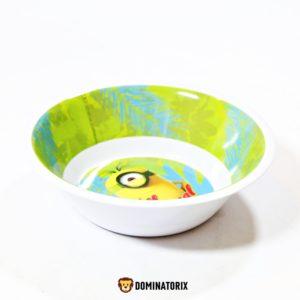 Detská hlboká miska Mimoni s priemerom 14,5cm. Hĺbka misky je 5cm. Materiál-plast. Môžete ju pužívať na ohrev v mikrovlnej rúre. Vhodné pre deti od 3 rokov.