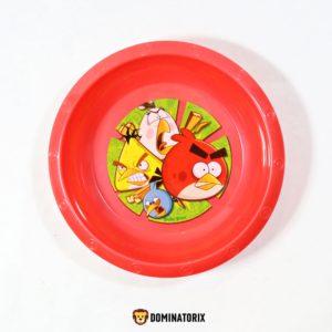 Detská hlboká miska Angry Birds s priemerom 17cm a hĺbkou 3,5cm. Materiál-plast. Je vhodná na ohrev do mikrovlnej rúry. Vhodné pre deti od 3 rokov.