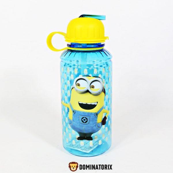 Detská fľaša Mimoni 450ml s uzáverom a slamkou. Je vyrobená z kvalitného plastu. Môžete ju používať v mikrovlnej rúre, ale nie v umývačke riadu. Materiál-plast. Vhodné pre deti od 3 rokov.