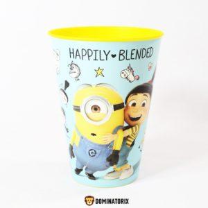 Detský pohár Mimoni 430ml žltý.Môžete ho používať v mikrovlnej rúre, ale nie v umývačke riadu. Materiál-plast. Vhodné pre deti od 3 rokov.