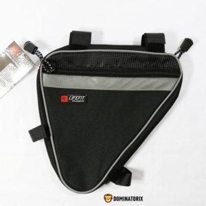 Cyklistická taška LIFEFIT čierna. Rámová cyklo taška LIFEFIT je vyrobená z kvalitného, umývateľného materiálu. Má reflexné prvky a uchytenie na suché zipsy. Rozmery: 23x23x4cm.