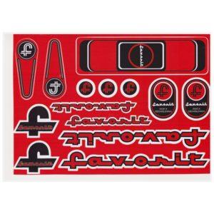 Nálepky na bicykel FAVORIT Červené A4