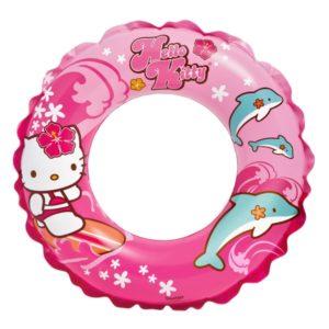 Detské nafukovacie koleso Hello Kitty 51cm Rozmery: priemer 51 cm (otvor 20 cm) Materiál: vinyl cm Nevhodné pre deti do 3 rokov