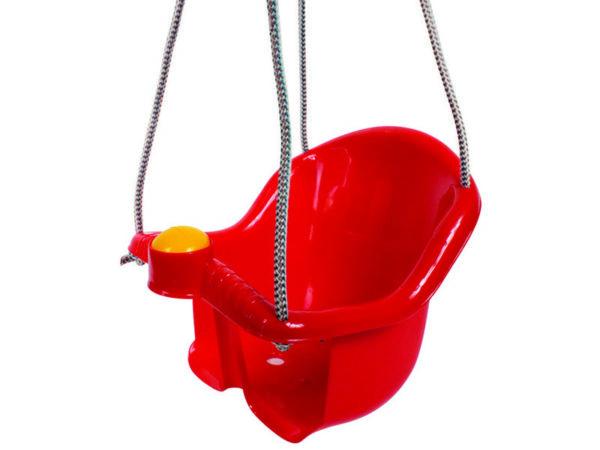 Detská plastová hojdačka červená