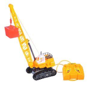 Detský žeriav na diaľkové ovládanie s káblom Funkcie: Výška: 36cm rameno ovládané pomocou ovládača Napájanie: 3 x 1,5V AA batérie (nie sú súčasťou hračky), ale môžete si ich zakúpiť na eshope. Materiál: plast Rozmery: DŠV 15,5x11x40cm Vhodné pre deti od 3 rokov.