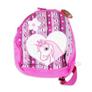 Detský batoh srdiečko jednorožec Je s nastaviteľnými popruhmi a s uzatváraním na zips Rozmery: 25x30cm Materiál: príjemný polyester Vhodné pre deti od 3 rokov.