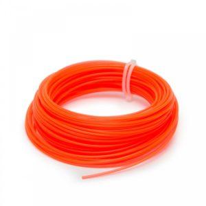 Struna do kosačky oranžová hranatá 2mm 15m Je vhodná do všetkých tipov krovinorezov