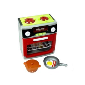 Detský kuchynský sporák na batérie 3xAA 1,5V niesú súčasťou hračky, ale môžete si ich zakúpiť na eshope. Funkcie: 3 funkcie pečenia Otvárateľná rúra Zvuk a svetlo Rozmery balenia: 24,5x22x12,5cm Materiál: plast Vhodné pre deti od 3 rokov.