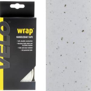 Omotávka na riadidlá VELO biela korková samolepiaca V balení aj štuple - zátky Materiál: syntetický korok