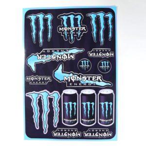 Nálepky Monster tyrkysové Vododolné Materiál: fólia