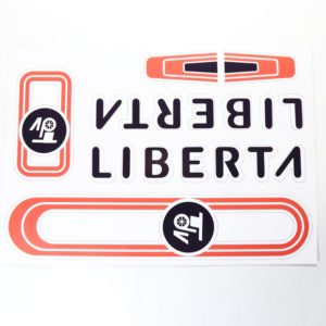 Retro nálepky na bicykel LibertaVodoodolné Materiál: fólia Formát A4 a A5