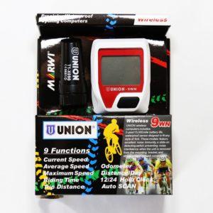 Tachometer na bicykel UNION 9 funkcií momentálna rýchlosť priemerná rýchlosť - maximálna rýchlosť-doba jazdy-prejdená vzdialenosť-odometer